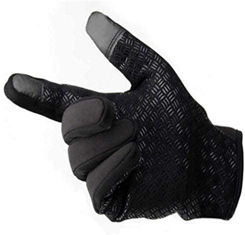 Hot Sell Unisex Men Women Winter Touch Screen Windproof Waterproof Outdoor Zipper Gloves Mittens Outwear - (Color: Black, Gloves Size: XL)