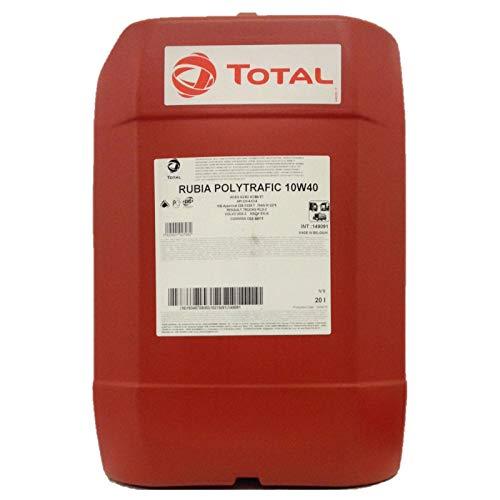 Total 20 Liter Rubia Polytrafic 10W-40 teilsynthetisches Leichtlaufmotorenöl