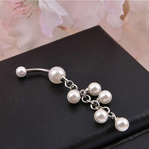Pelota acrílico perlas óptica ombligo 6 colores o 6er set