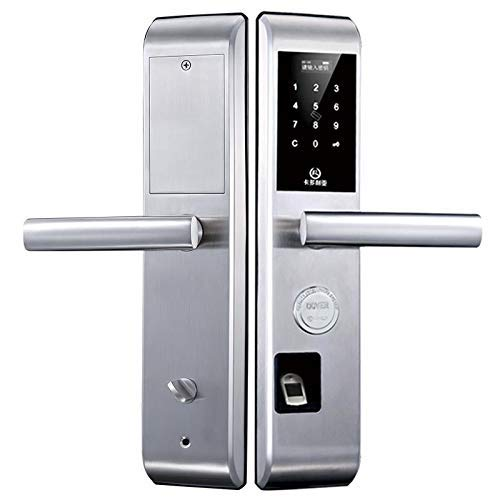 YANGSANJIN Smart Lock Keyless, Passwortschloss Diebstahlschutz Schlüsselloses Schloss RFID Kartenschloss Home Bluetooth APP Version Home Security Überwachungssysteme