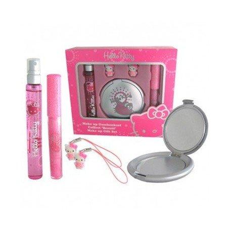 Hello Kitty Sparkle Geschenkset Eau de Toilette 15 ml, Lipgloss, Taschenspiegel, Handyanhänger