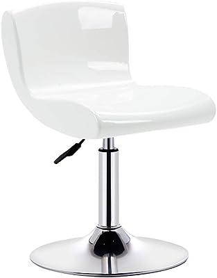 eSituro 1 X Tabouret de Bar Chaise de Bar avec Dossier en Similicuir,Hauteur r/églable,Gris Blanc SBST0200