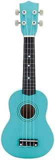 Todos pueden jugar - Ukelele de madera pequeña guitarra color ukelele de 21 pulgadas-Menta verde