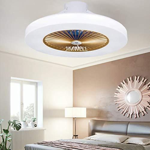 Neue fan ultra-leise unsichtbare deckenventilator licht mit fernbedienung ventilator licht wohnzimmer schlafzimmer kinderzimmer restaurant home einfache moderne ventilator licht 58 cm,Gold