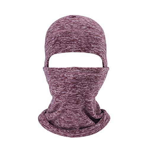 AYPOW Balaclava Gesichtsmaske, Winter Warm Windproof Hüte Halswärmer Outdoor Radfahren Balaclavas Ski Gesichtsmasken für Erwachsene(Kaffee)