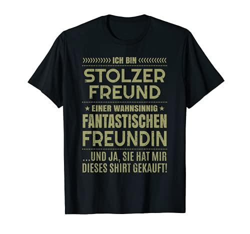 Stolzer Freund Sprüche Fun Freundin Partner Herren T-Shirt