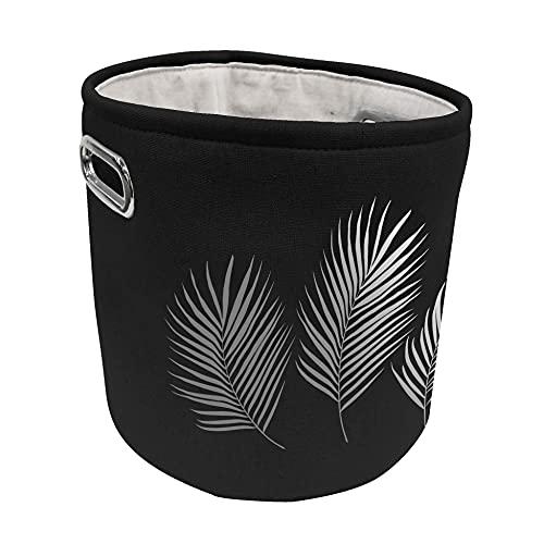 Douceur d'Intérieur 1801320 - Cesto (70 % poliéster, 30 % algodón), color negro y plateado
