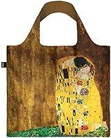 GUSTAV KLIMT, The Kiss. Bag: LOQI BAG: Ich wiege 55 g. Ich kann 20 kg tragen. Ich bin wasserabweisend und waschbar...