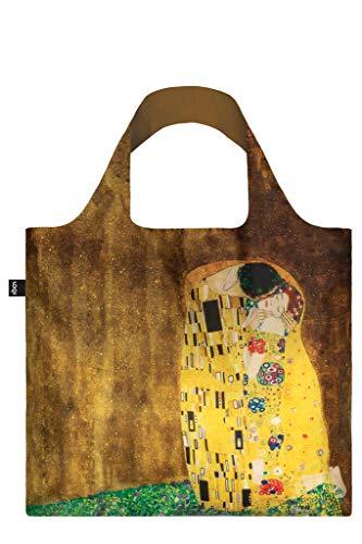 GUSTAV KLIMT, The Kiss. Bag: LOQI BAG: Ich wiege 55 g. Ich kann 20 kg tragen. Ich bin wasserabweisend und waschbar. OEKO-TEX® zertifiziert und aus Polyester.