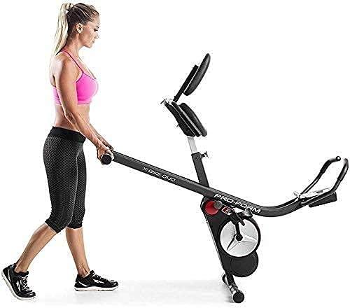 FGVBC Cyclette Pieghevole Resistenza Magnetica Regolabile La Cyclette Pieghevole in Posizione Verticale e reclinata è la Cyclette Perfetta per l'uso Domestico per Uomini, Donne e Anziani