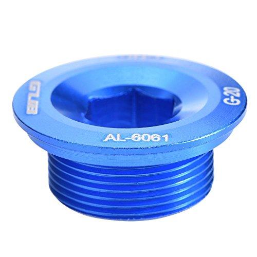 VGEBY Kurbelarmschraube, Aluminiumlegierung Fahrrad Kurbelarmschrauben Kurbelbefestigungsschraube für Kurbel(Blau)
