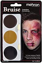 Mehron Makeup Tri-Color Halloween Makeup Palette (BRUISE)