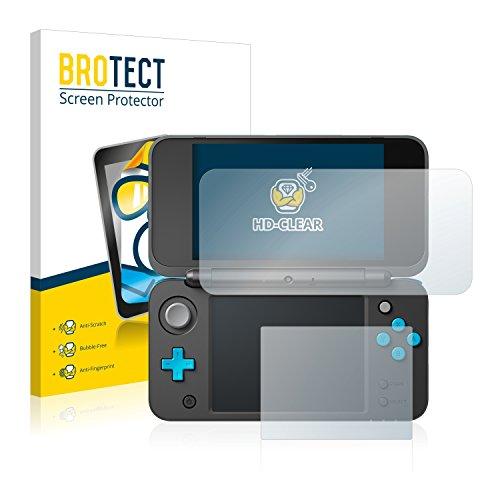 BROTECT Protector Pantalla Compatible con New Nintendo 2DS XL Protector Transparente (2 Unidades) Anti-Huellas