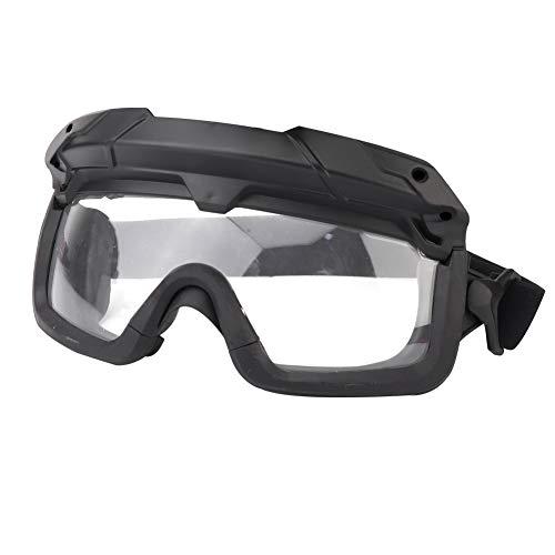Huntvp Taktische Schutzbrille Militär Brille Tactical Goggles Klar Winddicht fürHerren Damen Paintball Airsoft Softair CS Spiel Cosplay Sport Outdoor, Schwarz