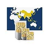 travSIM - Tarjeta SIM Prepaga Asiática (SIM de Datos para-Asiática) - 2GB de Datos Móviles para Usar en Asiática Válido por 30 Días - la Tarjeta SIM de Datos de Funciona en más de 15 Países