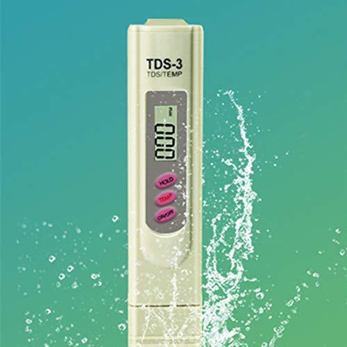 Molyflower Medidor Digital TDS-3 portátil Probador LCD Probador de Calidad del Agua Purity Pen Stick Portable Tds Pen 1S Detección rápida - Blanco