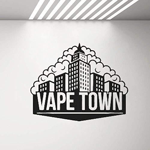 Vape Shop Aufkleber Shisha Smoke Shop Wanddekor Aufkleber Lounge Cafe Bar Dekoration Tapete Abnehmbare Vinyl Aufkleber Poster 71X57cm