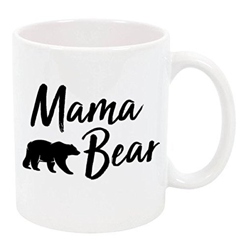 Mama Bear for Mother`s Day Ceramic Coffee Tea Mugs (Mama Bear, 11 oz.)