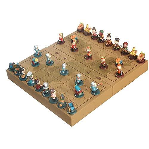 UNU_YAN Moderne Einfachheit chinesischer Schach-Holzkiste 32pcs / Set altes Spiel von Go Xiang Qi Internationale Kontrolleure Falten Spielzeug Geschenke Nein Casual Puzzle Party