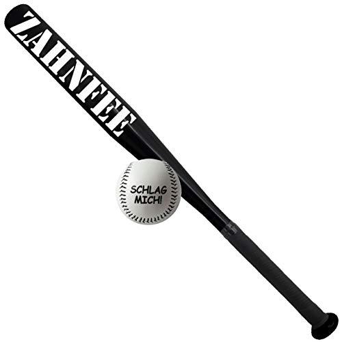Spass kostet Sportset Baseballschläger schwarz mit Ball Zahnfee Aluminium 65 cm lang