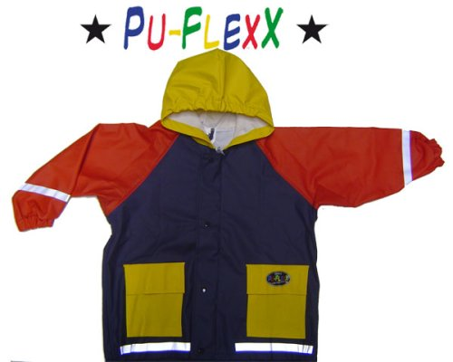 BMS Kinder Regenjacke PU Flexx tricolor Grösse 116