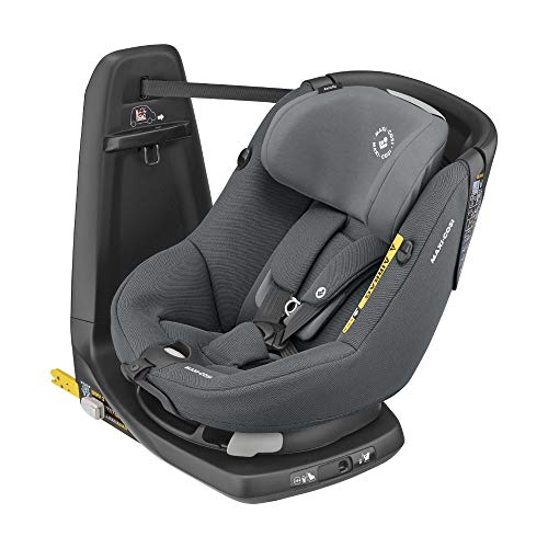 Maxi-Cosi Axissfix Silla de coche giratoria 360° isofix, silla auto reclinable y contramarcha para bebés 4 meses - 4 años, color authentic graphite
