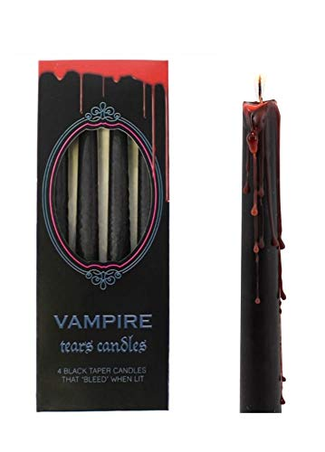 Taper Candles ~ Gothic/Halloween ~ Vampire TEARS ~ Set of 4 ~ Drip Red When Lit