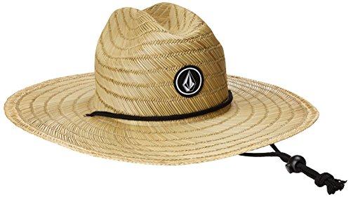 Volcom Men's Quarter Straw Hat, Natural, Small/Medium