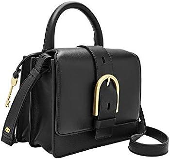 Fossil Women's Wiley Leather Top Handle Flap Crossbody Handbag
