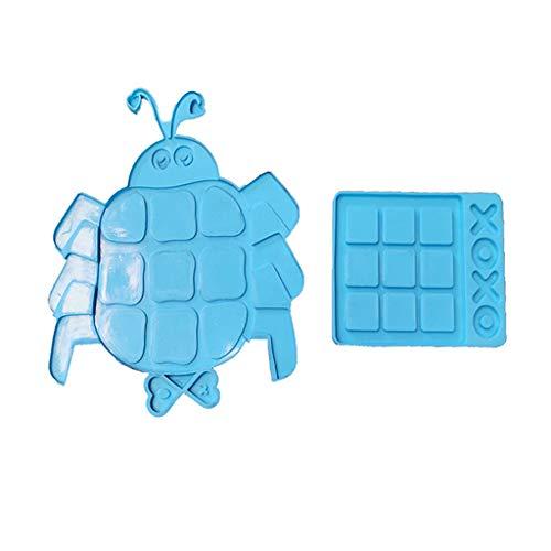 Yunnan 1 Set Tac-Toe-Spiel-Formen mit XO-Epoxidharz-Form, Spielbrett, Silikon-Formen für Schmuckherstellung, DIY, Basteln, hausgemachte Dekorationen