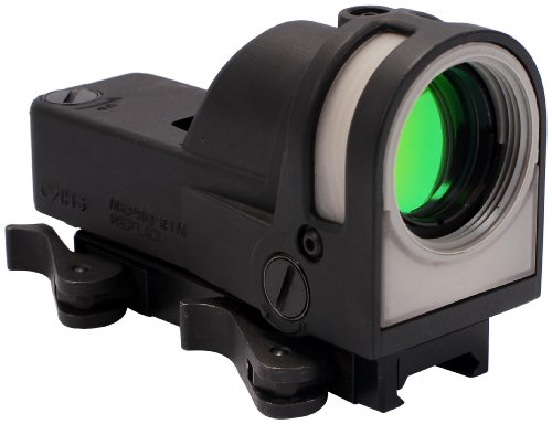 Meprolight Self-Powered Day/Night Reflex Sight with Dust Cover - X Reticle, Black, 1x30mm (Mepro M21-X)