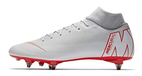 Nike Unisex-Erwachsene Mercurial Superfly VI Academy SG-Pro Sneakers, Mehrfarbig (Wolf Grey/Lt Crimson/Pure Platinum 001), 41 EU