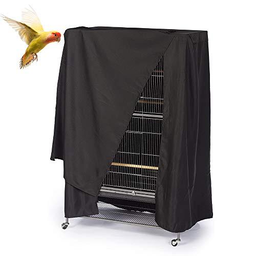 ASOCEA - Funda para jaula de pájaros (tamaño extragrande), color negro