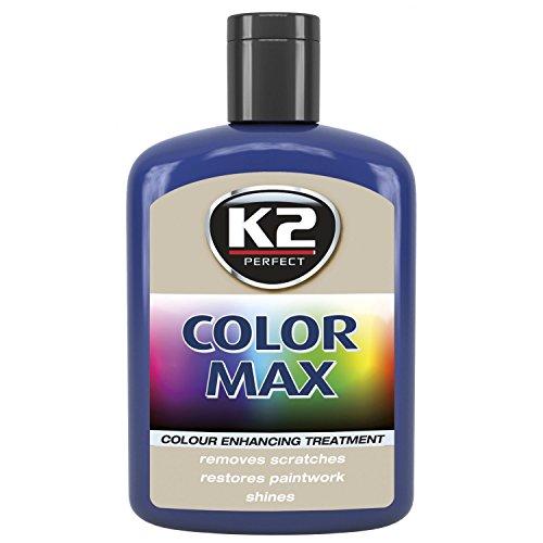 K2 Color Max Farbpolitur Autopolitur Wachspolitur Politur mit Carnauba-Wachs, Gebindegröße:200 ml;Farbe:Schwarz