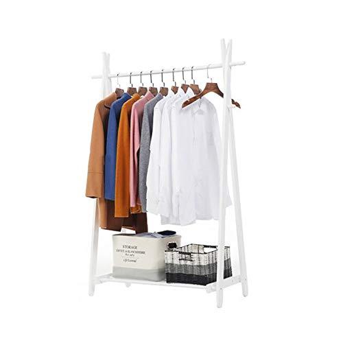 Duo-kapstok, opvouwbaar, kledingrek, 4 kledinghaken, praktisch schoenenrek, opbergruimte voor in de hal, kledingstandaard