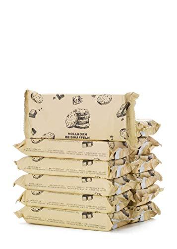 KoRo - Galletta di riso integrale con cioccolato fondente 12 x 90 g - Croccanti gallette senza glutine a base di riso integrale soffiato con cioccolato fondente belga.
