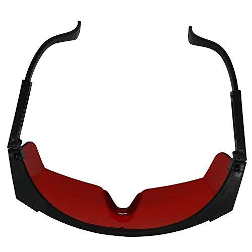 Zeagro Laser-Schutzbrille für UV-Strahlen, rot, grün, blau, Laser, rot getönte Linse, Laserbrille mit verstellbarem 1 Stück