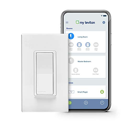 Leviton DW15S1BZ Decora Smart WiFi 15A Universal LED/Incandescent Switch Works with Amazon Alexa No Hub Required