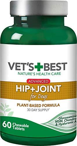 Vet s Best Suplementos avanzados de Cadera y Perro Conjunto formulados con glucosamina y condroitina para apoyar la Salud de la articulación del Perro y el cartílago 1 Unidad 190 g