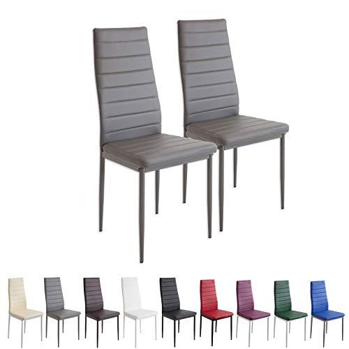 Albatros 2864 Milano Set de 2 sillas de Comedor, Gris
