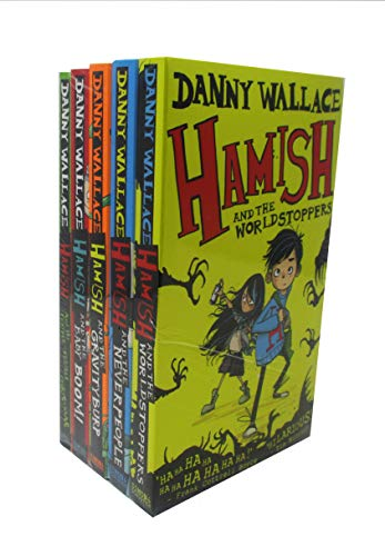 Danny Wallace's Collection Hamish Series Set of 5 Books (The Worldstoppers, The Never People, The Gravity Burp, The Baby Boom, The Terrible Christmas)