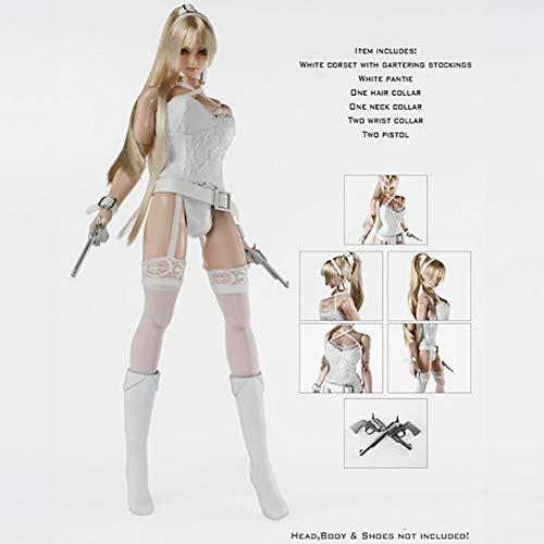 Clicked 1/6 Weißes Sexy Kleiderset Action Puppe Kostüm Für HT Verycool TTL Play Phicen