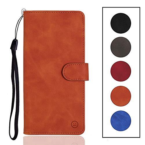 Langlee - Custodia per UMIDIGI A3 / A3 Pro, in pelle PU, con scomparti per carte e monete, chiusura magnetica, cinturino da polso