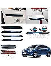 BUY HAPPYAMMY SHOP Bumper Protector Guard Double Chrome Strip 4PCS Black (for Maruti Suzuki BALENO)