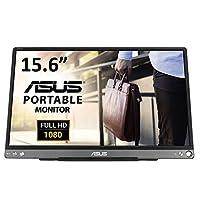 ASUS MB16ACE モバイルモニター モバイルディスプレイ 薄さ9mm・最軽量710g、USBで簡単接続 15.6インチ IPS フルHD ブルーライト軽減 USB Type-C