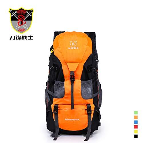Grote sporttas voor buiten, schoudertas, bergbeklimmen, tas, wandelen, vrijetijdspakket, oranje (oranje) - 5315345516983