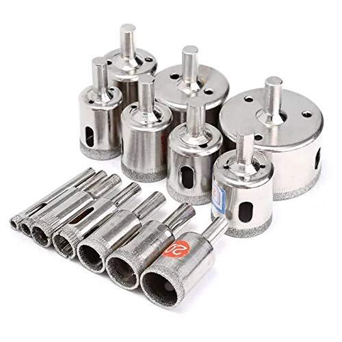 No-branded Hole Saw Drill 6-50mm 15pcs Diamond Coated Hole Saw Cutter Drill Bit Rotary Tool LYFTLKJ