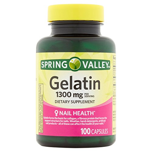 Spring Valley Gelatin 10 Grain, 1300 Mg, 100 Ct