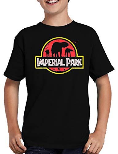 Imperial Park - Camiseta infantil con texto 'Wars at Star at' negro 122/128 cm