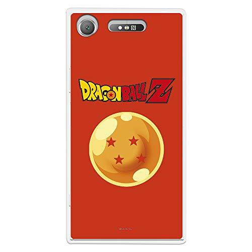 Funda para Sony Xperia XZ1 Oficial de Dragon Ball Bola de Dragón nº 4 Fondo para Proteger tu móvil. Carcasa para Sony de Silicona Flexible con Licencia Oficial de Dragon Ball.